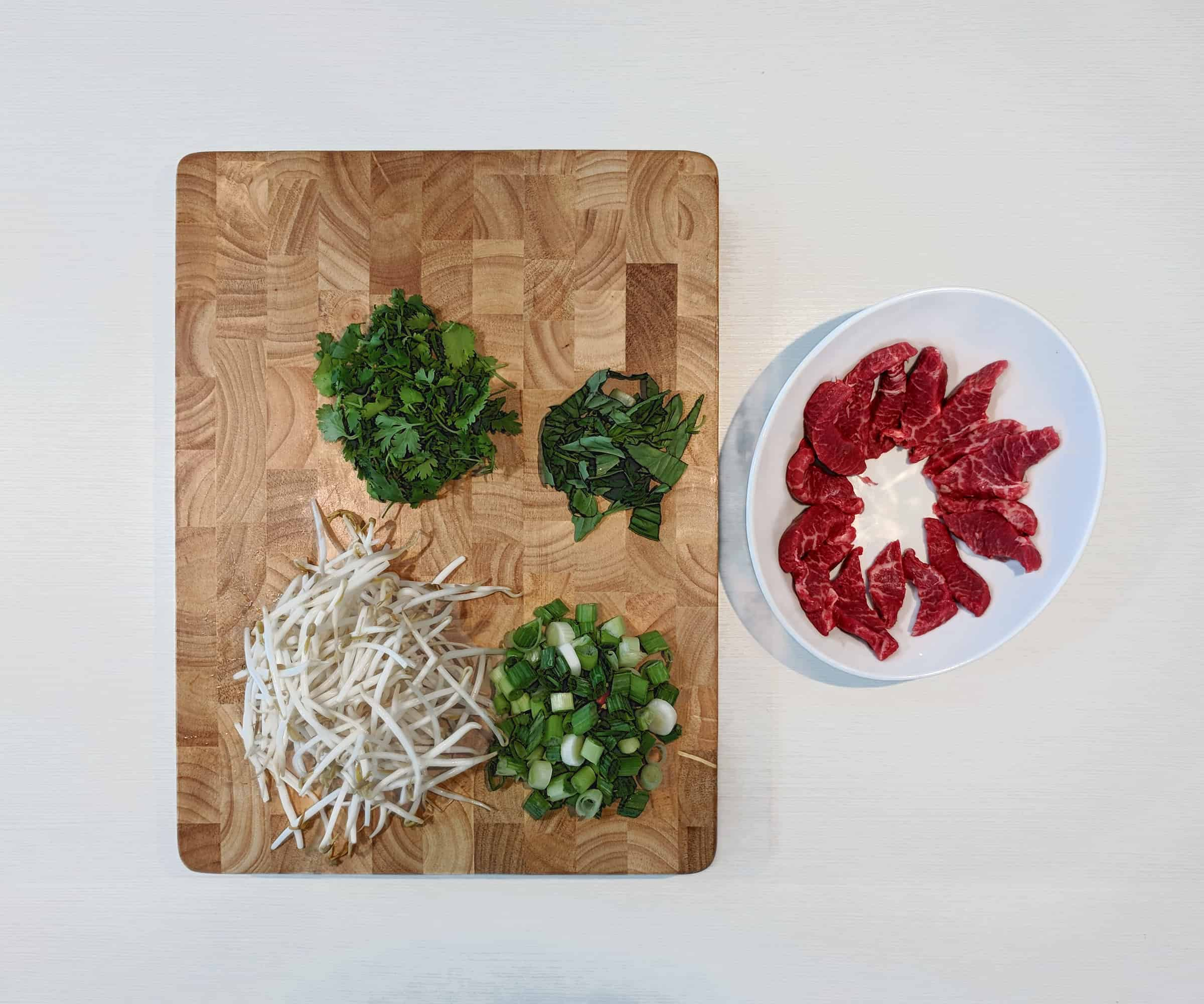 Beef Pho Preparation